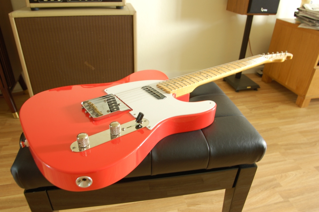 Fiesta Red Chambered Charlie Christian Caster Telecaster